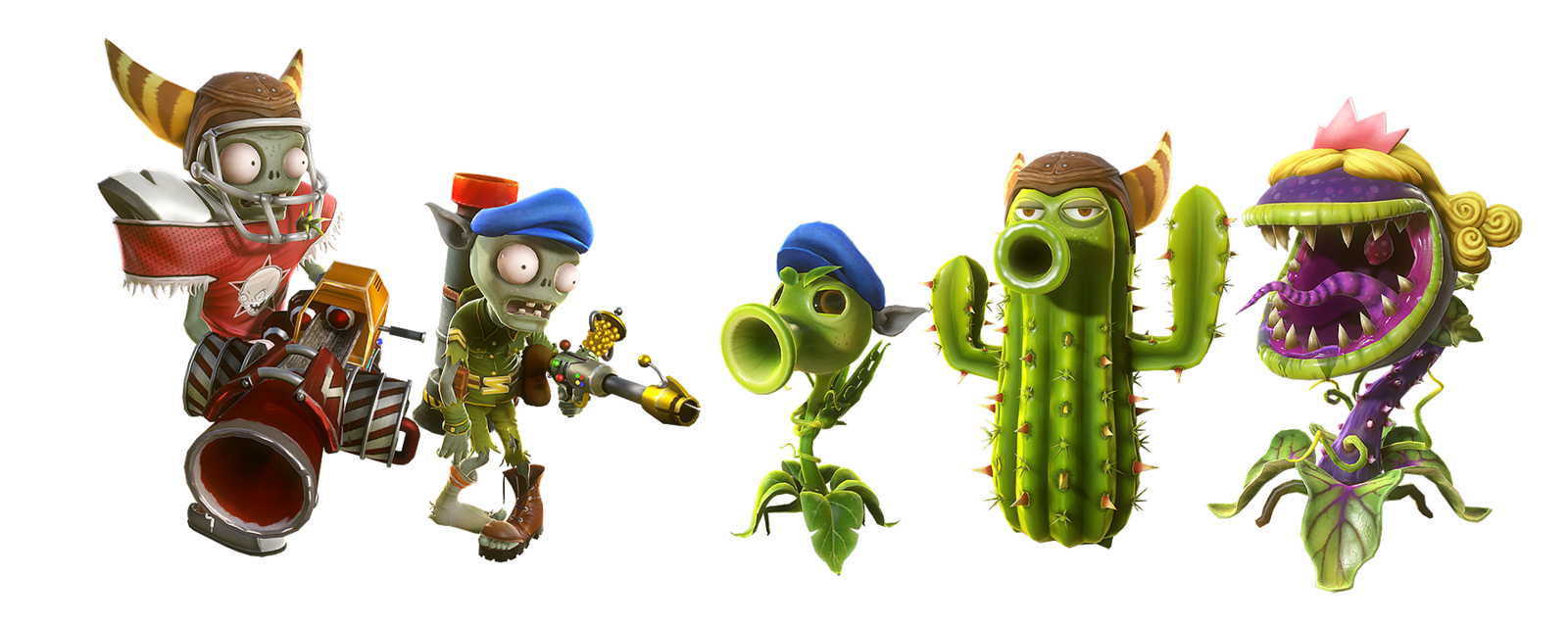 Plants vs zombies garden warfare plants characters
