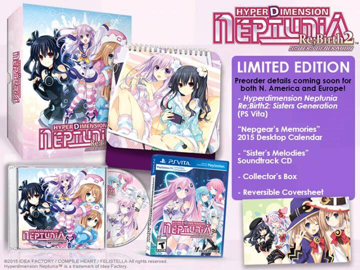 hyperdimension neptunia re birth2 sisters generation ps vita