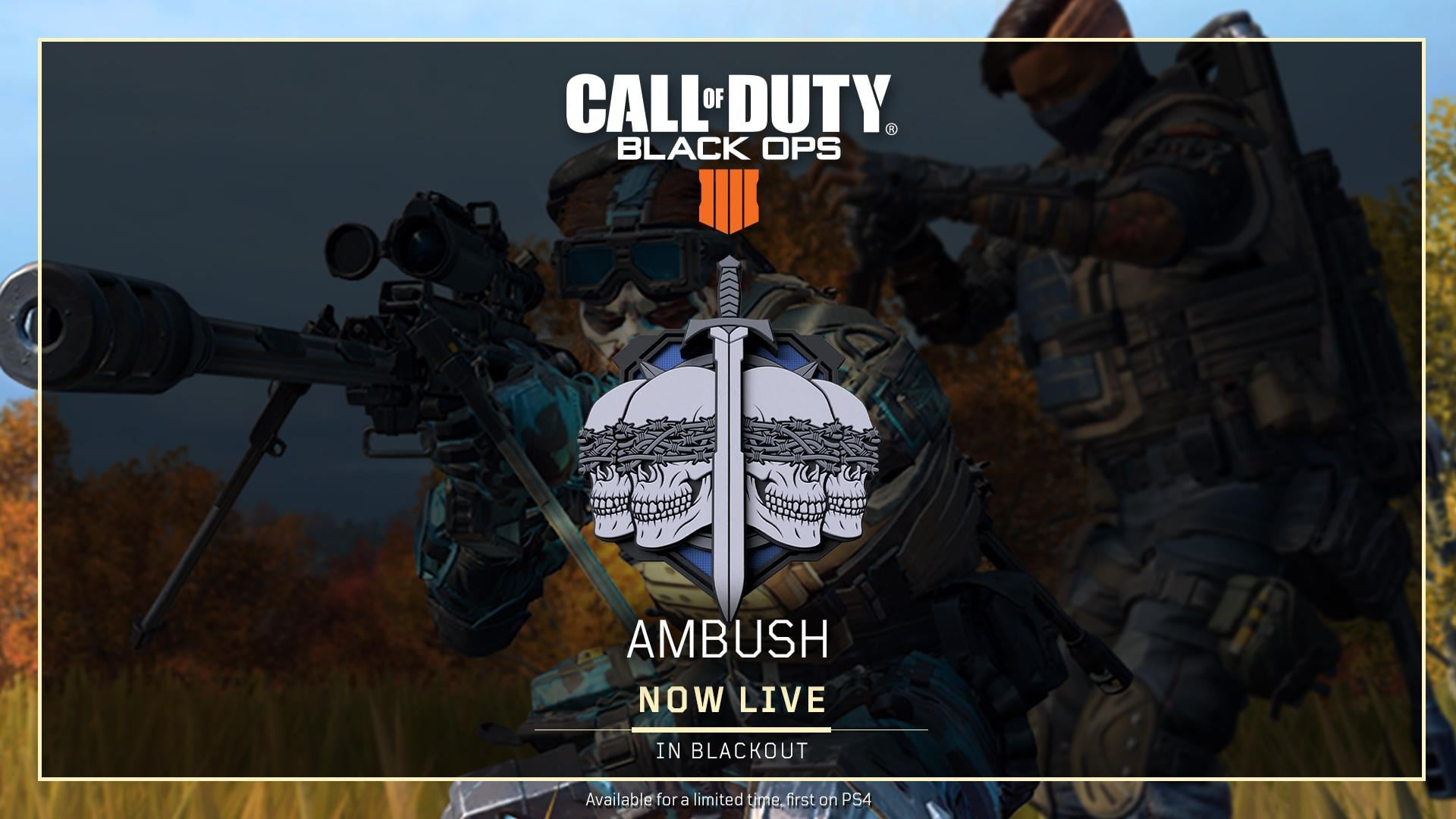 Call of Duty: Black Ops 4 Update Adds Ambush to Blackout